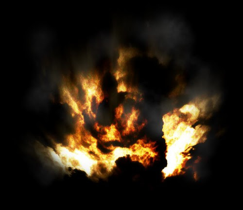 Transform a Cloud Photo into an Flaming Scene in Photoshop image 22