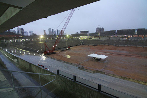 Obras atingiram a marca de 67 por cento segundo a construtora OAS