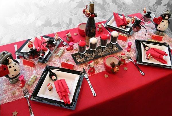 Deco anniversaire rouge et noir leila brugui re for Deco table noir et rouge