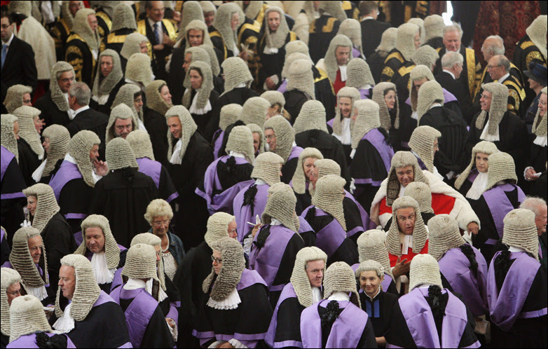 Judges arrive in Westminster Abbey 1 October 2009 in London