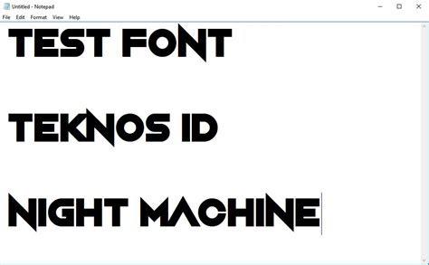 instal tambah font  pc  laptop teknosid