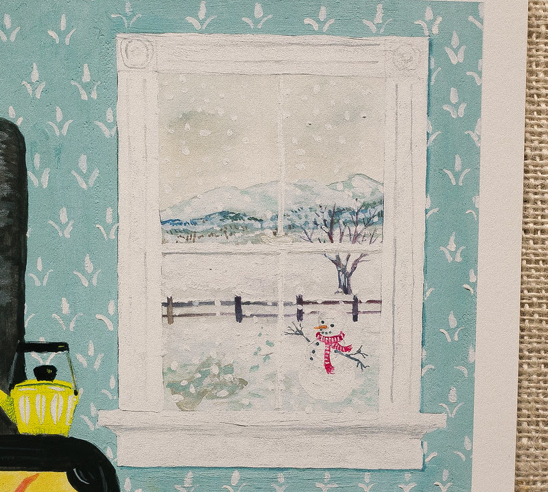 New England painting detail