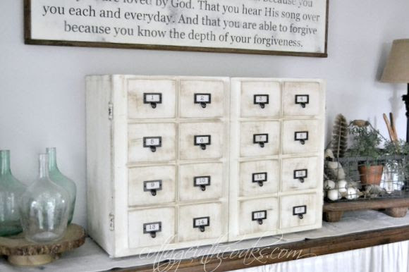 DIY Library Card Catalog Media Cabinet