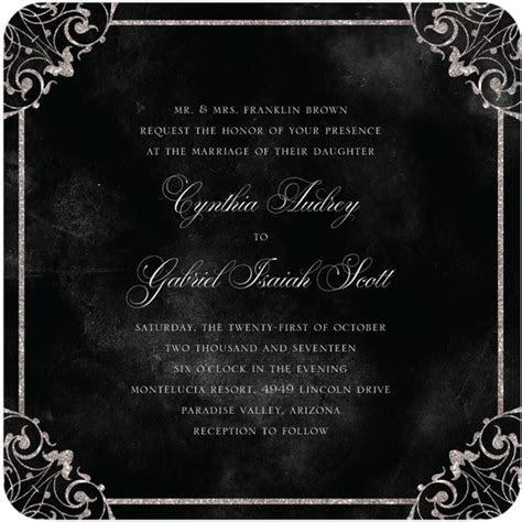 Dark and Debonair: Invitations for Gothic Weddings