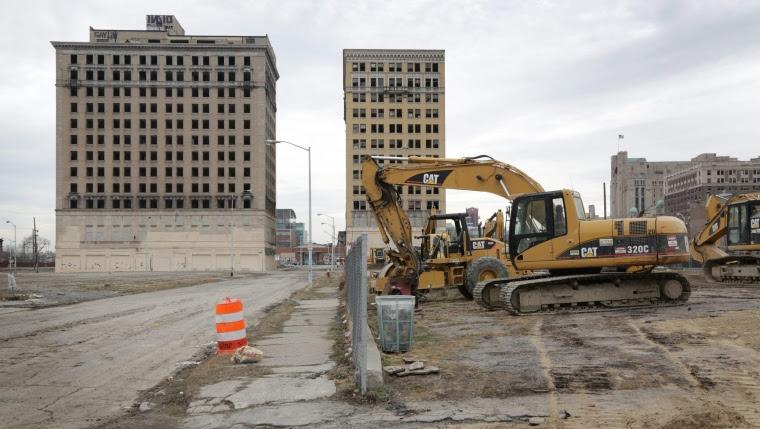 Un hôtel datant de 1924 a été démoli à Detroit, en lien avec le nouvel aréna des Red Wings