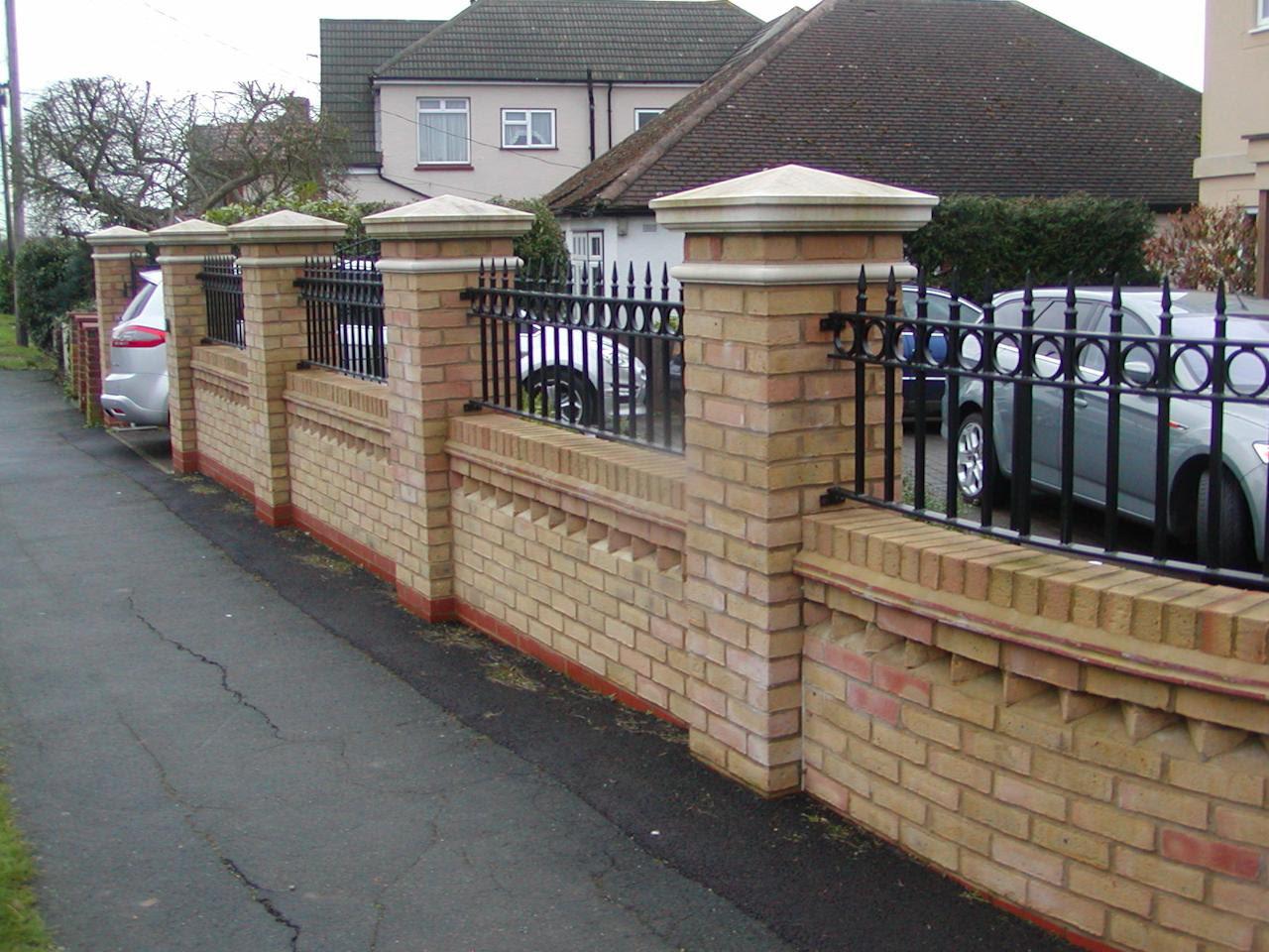 Garden Brick Wall Ideas Homsgarden