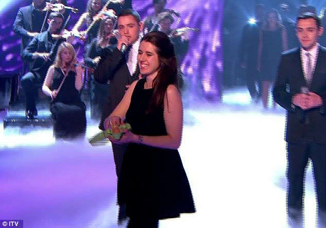 Regret: Natalie Holt issued an apology for pelting eggs at Simon Cowell shortly after the Britain's Got Talent live final ended on Saturday night