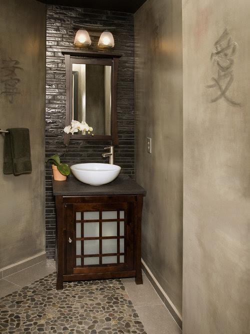 Small Asian Bathroom Design Ideas, Pictures, Remodel & Decor