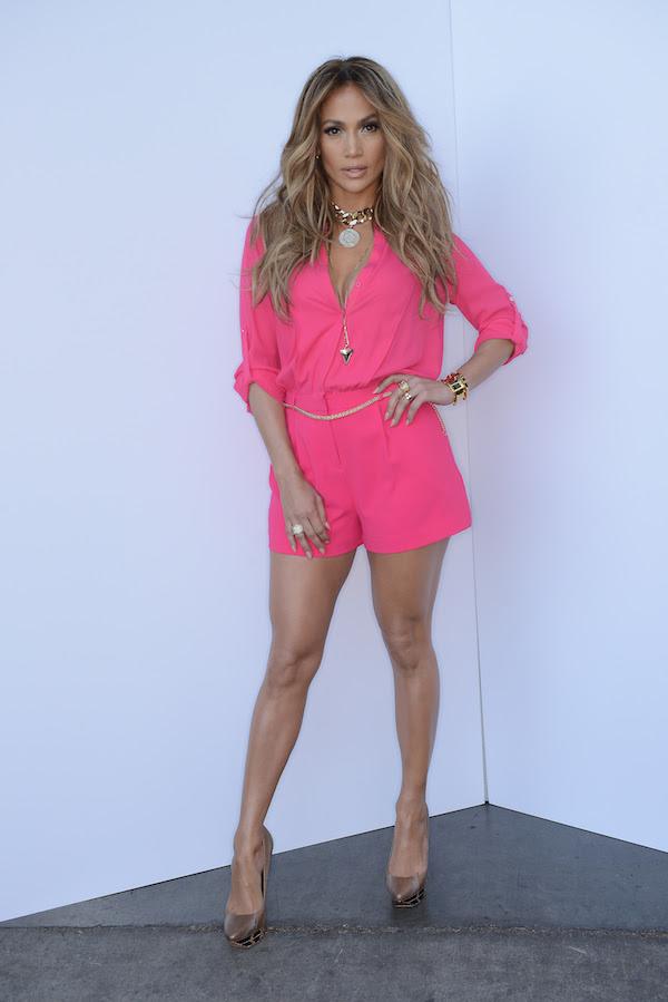 Jennifer Lopez's American Idol Jennifer Lopez for Kohl's Pink Tab Crepe Romper