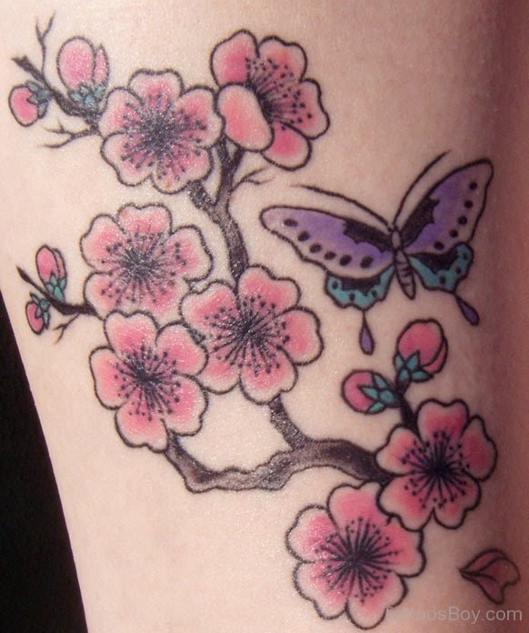 Cherry Blossom Butterfly Tattoo Tattoo Designs Tattoo Pictures