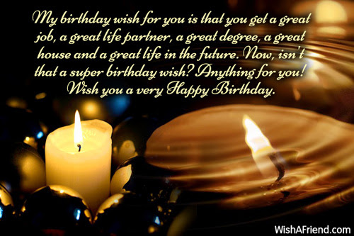 My Birthday Wish For You Is Happy Birthday Wish