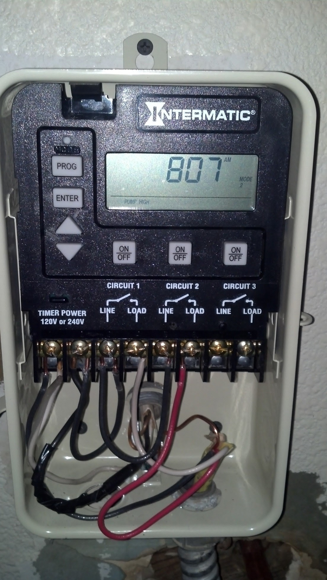 How To Wire A Pe153 Digital Timer To A 2 Speed 230v Motor Inyopools Com
