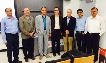 Payam Heydari with faculty at Princeton University