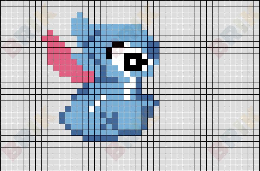 Cute Stitch Pixel Art Grid Pixel Art Grid Gallery