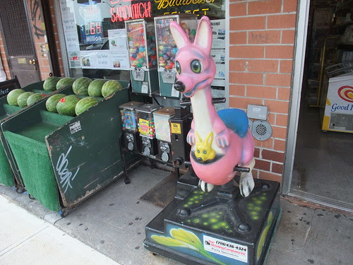 Kangaroo ride with watermelons