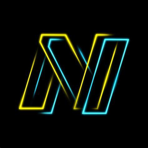 design neon stroke folded text logo