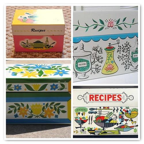 vintage recipe boxes