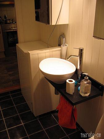 new bathroom minus mirror :: nytt baderom uten speilet