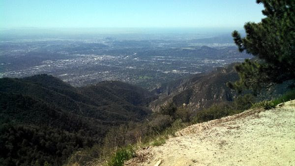 Greater Los Angeles as seen from the summit of Mount Wilson...on March 24, 2016.