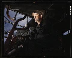 Crane operator at TVA's Douglas Dam, Tennessee (LOC)