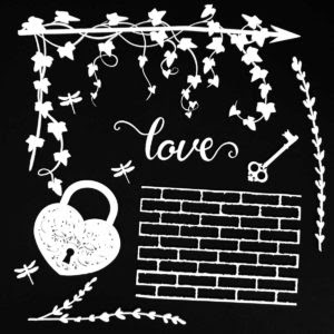 AB-86707 6x6 Archival Board - Love (White)
