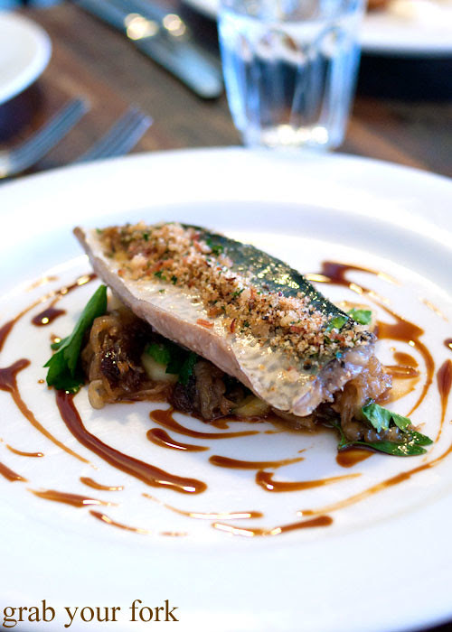 Olive oil poached mackerel at Grazing in Gundaroo