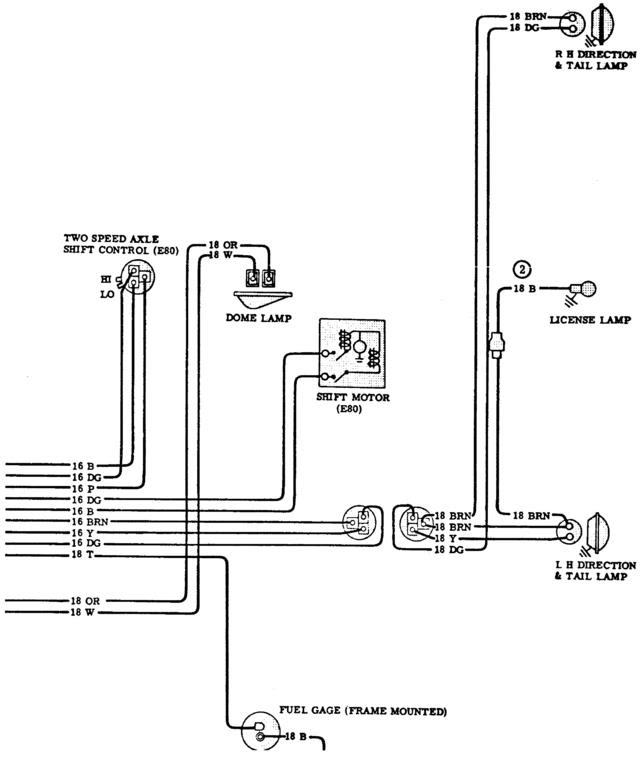 Tail Light Wiring Diagram 1963 Chevy C 10