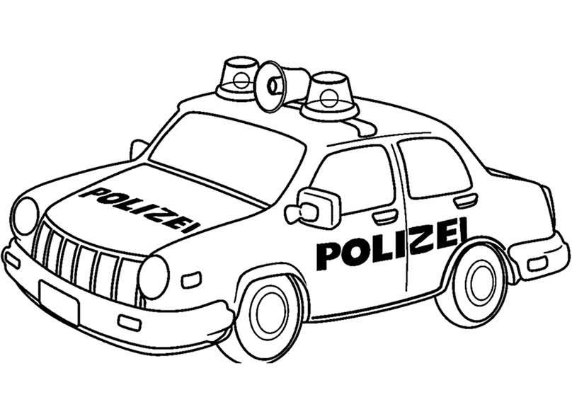 Polizei 10 | Ausmalbilder Kostenlos