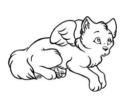 Free Chibi Wolf Lineart by LupusSilvae on DeviantArt