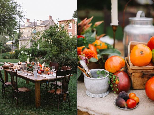 fall farmer table inspiration