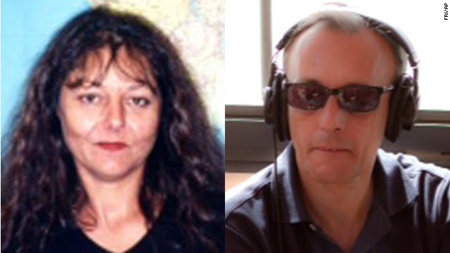 Ghislaine Dupont, left, and Claude Verlon reportedly were abducted after interviewing a rebel leader in Kidal, Mali.