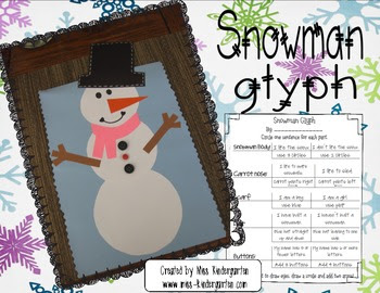 Snowman Glyph Bulletin Board Idea