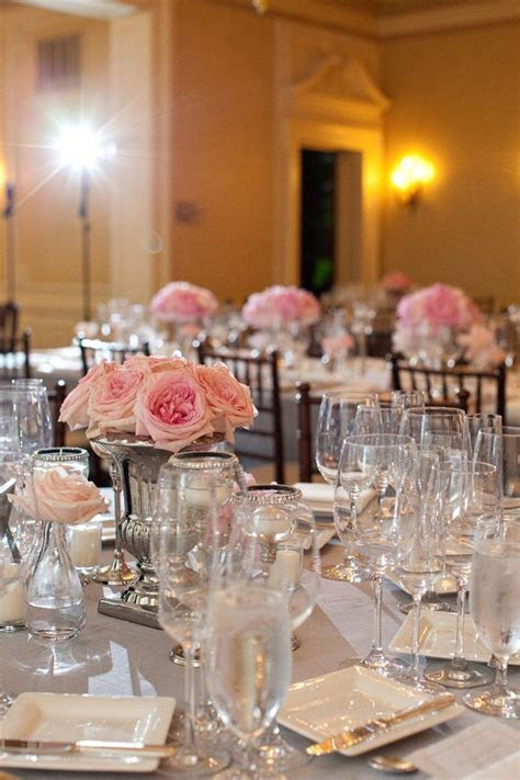 Table decorations to match a Cameo & Black wedding #