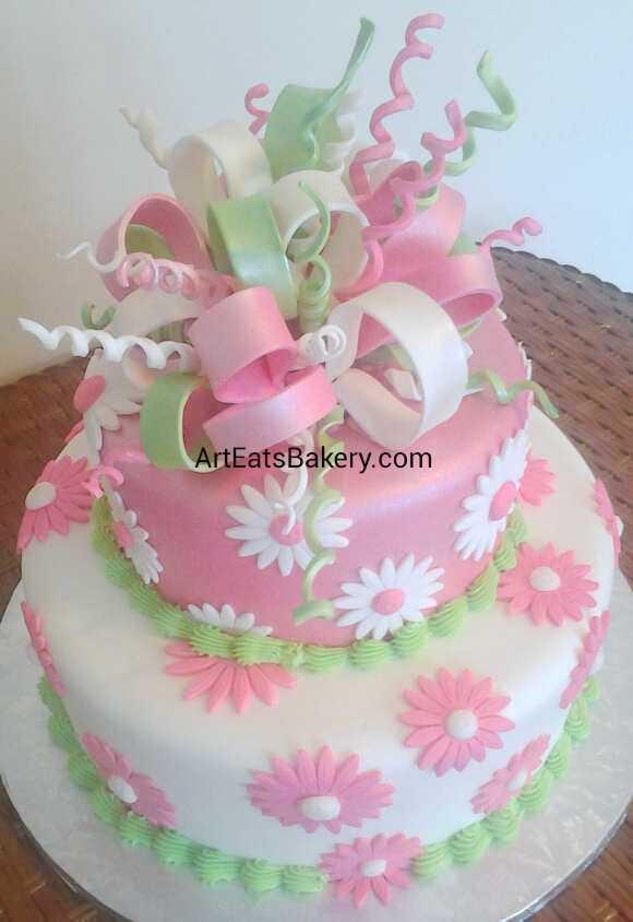 Custom Unique Artistic Fondant Birthday And Wedding Cake Designs And