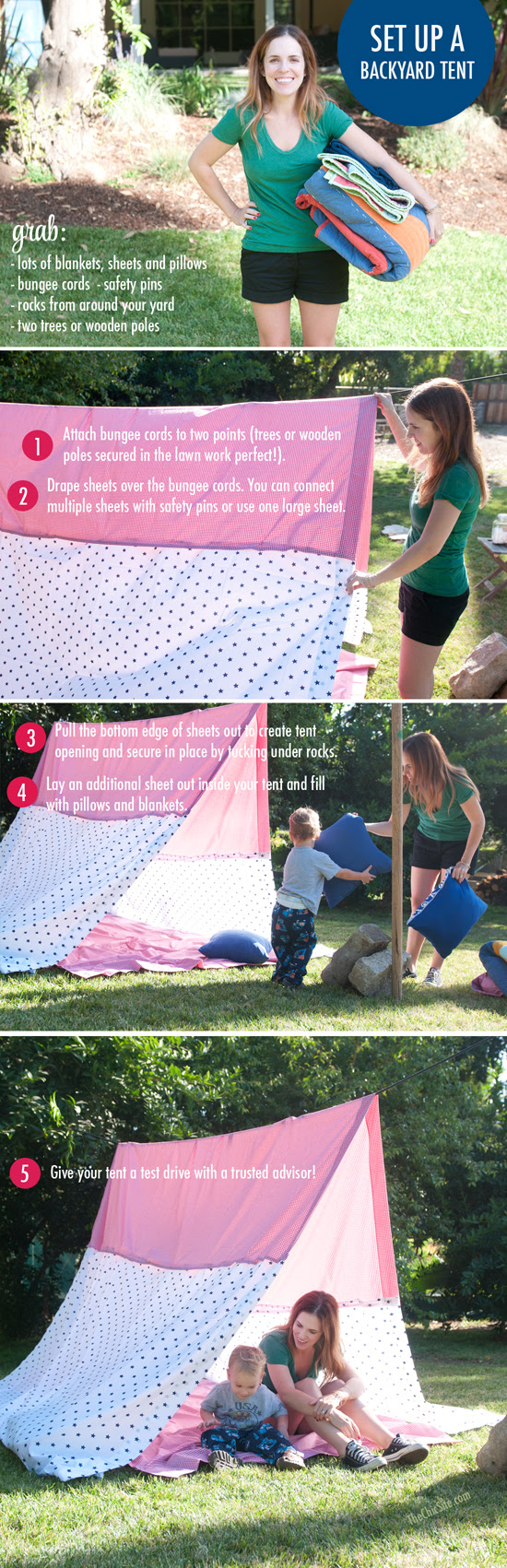 How to Set Up a Sheet Tent