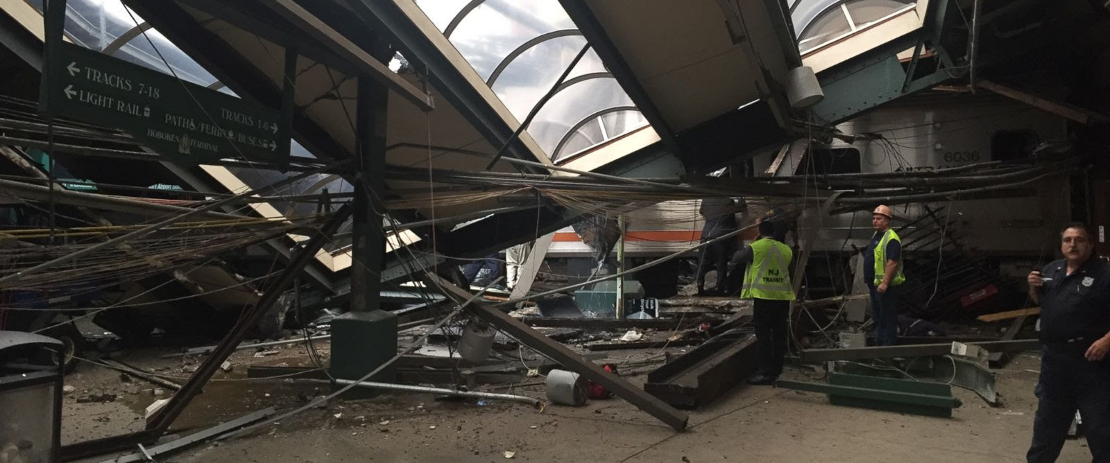 Image result for NJ Transit spokeswoman says that more 100 injured, some critically, in commuter train crash.