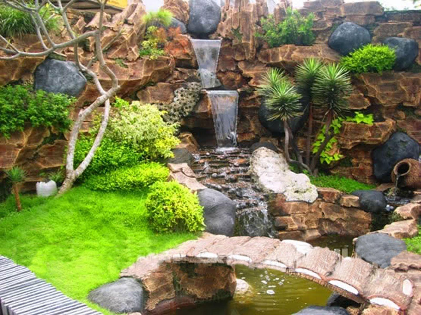 16 Model Kolam Buatan Untuk Taman Indah  RUMAH IMPIAN