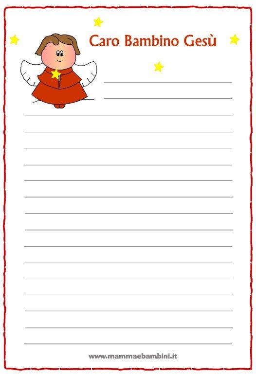 Letterine Di Natale Da Stampare Mamma E Bambini