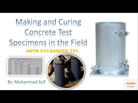 Compressive Strength of Concrete Cylinder [Urdu/Hindi] Part