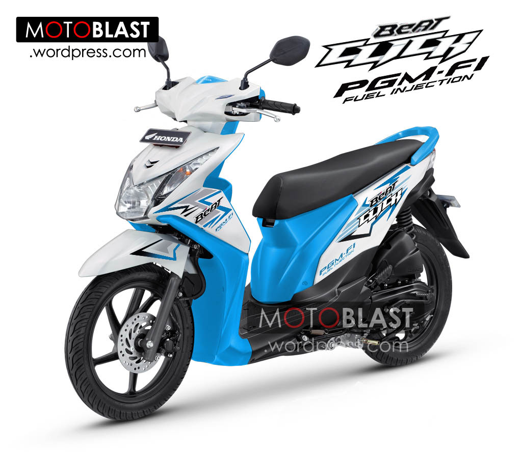 105 Modifikasi Honda Beat Fi Warna Biru Putih Modifikasi Motor