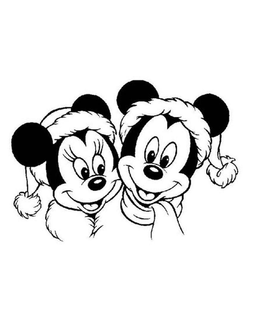 Minnie Navidad Para Colorear E Imprimir