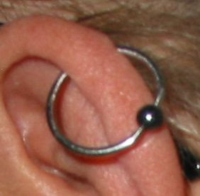 Changing Cartilage Piercing Yahoo Answers