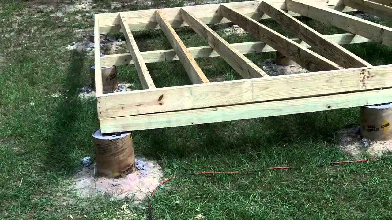 How To Build A Shed On Concrete Piers