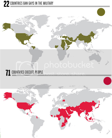 gays military capital punishment world map