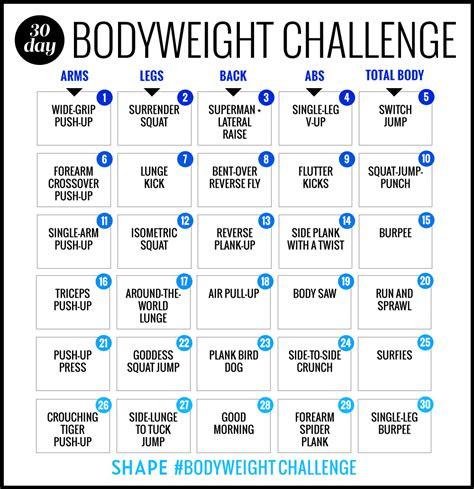 day bodyweight workout challenge   burn