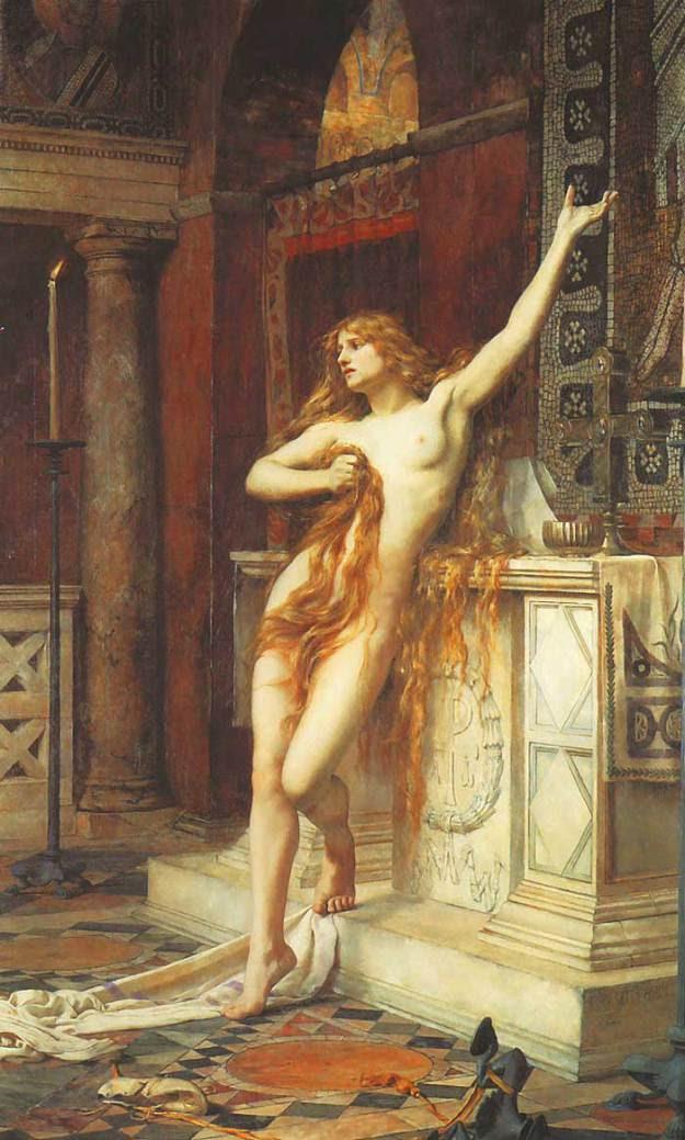 Υπατία, ελαιογραφία του Τσαρλς Ουίλιαμ Μίτσελ (1885)