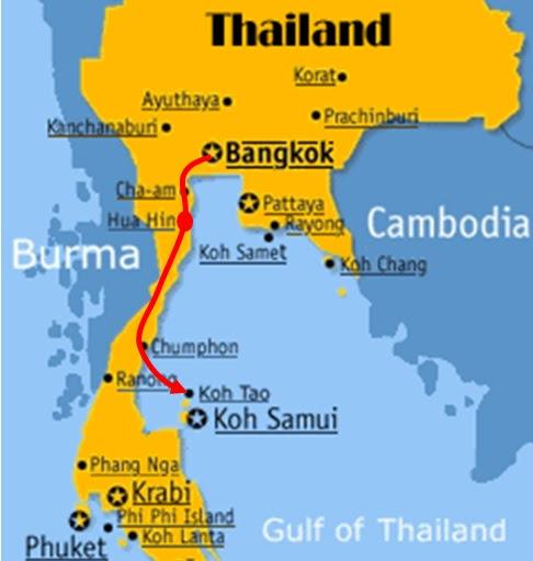 Map Of Thailand Hua Hin And Bangkok Maps Of The World