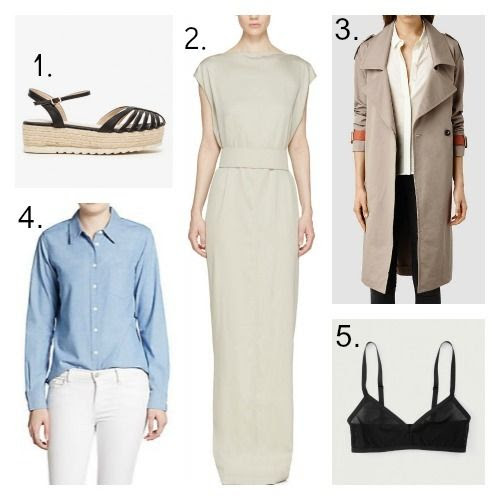 Qupid Espadrilles - Rick Owens Dress - All Saints Coat - Equipment Shirt - Land of Women Bra