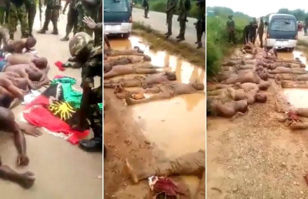 Image result for nigerian army brutality ON IPOB IN ABIA STATE