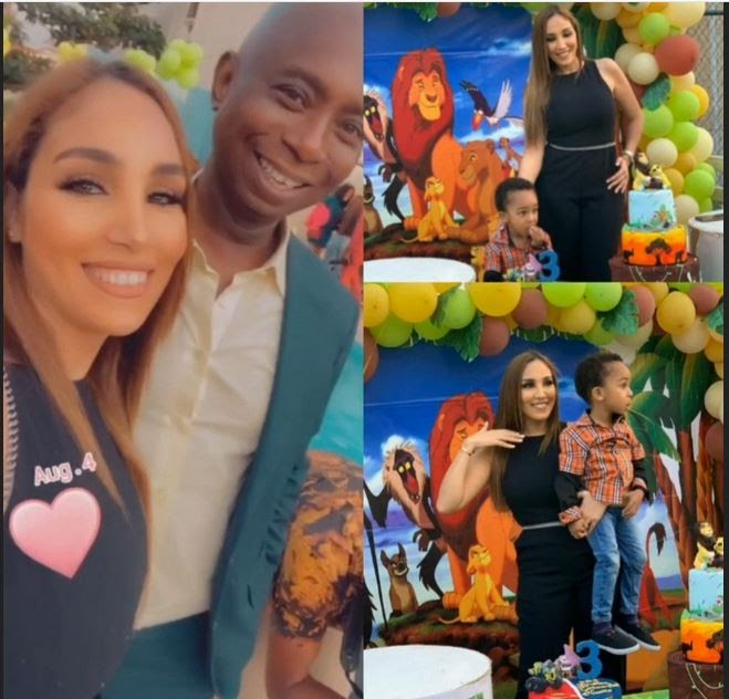 Regina Daniel's Husband, Ned Nwoko And His Moroccan Wife Celebrate Their Son On His Third Birthday (Photos)